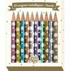 10 mini metallic crayons