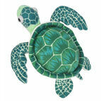 Wild Republic Mini Green Sea Turtle 25cm Cuddlekin Soft Toy
