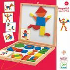 Djeco Geoform Wooden Magnetic Shapes