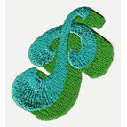 Jennie Maizels Alphabet Patch - Letter P - Green