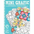 Djeco Mini Graphic - Floral Colouring Pictures