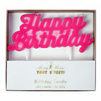 Meri Meri Pink Happy Birthday Candle