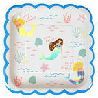 Meri Meri Let's Be Mermaids Large Party Plate