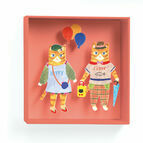 Djeco Box-Framed 3D Picture - Cats Balloons