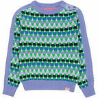 Andes Triangle Striped Jumper - Blue