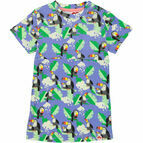 Orinoco Printed Dress - Periwinkle Toucans