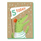 Fifth Birthday Crocodile Card - Age 5