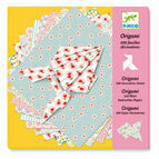 Djeco Origami Papers - 100 Decorative Pink Sheets