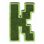 Jennie Maizels Alphabet Patch - Letter K - Green