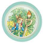 Petit Jour Paris Peter Rabbit Baby Plate - Green