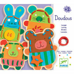 Djeco Lacing Game - Cuddly Animals