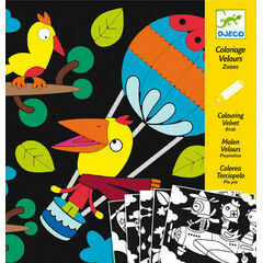 Djeco Colouring in Velvet - Birdz