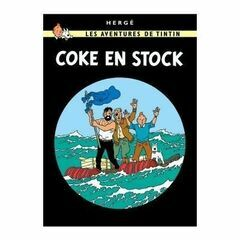 Tintin Postcard - Coke en Stock