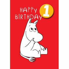 Hype Moomin Birthday Card - Age 1