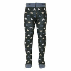 Melton Baby Tights - Mini Stars - Blue