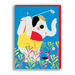 Nineteen Seventy Three Golf Greeting Card by Marc Boutavant