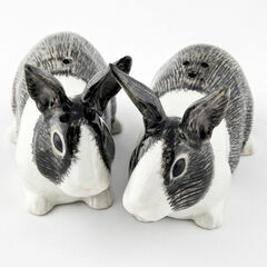 Quail Ceramics Dutch Rabbit Ceramic Salt & Pepper - Black & White