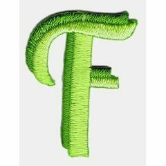 Jennie Maizels Alphabet Patch - Letter F - Green