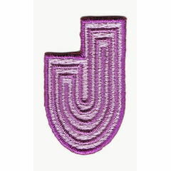 Jennie Maizels Alphabet Patch - Letter J - Purple