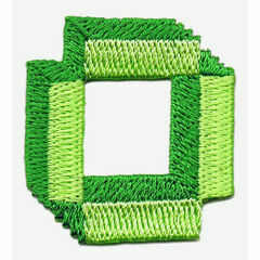 Jennie Maizels Alphabet Patch - Letter O -Green