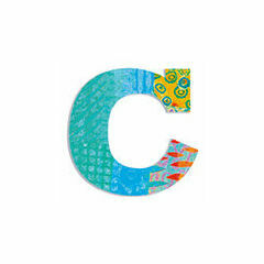 Djeco Wooden Letter C - Peacock