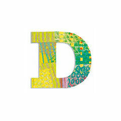 Djeco Wooden Letter D - Peacock