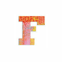 Djeco Wooden Letter F - Peacock