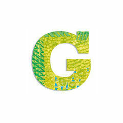 Djeco Wooden Letter G - Peacock