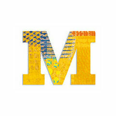 Djeco Wooden Letter M - Peacock