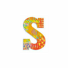 Djeco Wooden Letter S - Peacock