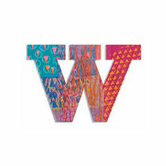 Djeco Wooden Letter W - Peacock