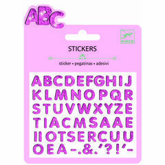 Djeco Mini Stickers - Glitter Letters