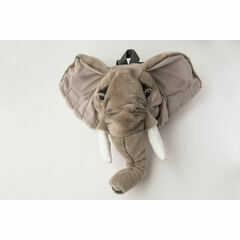 Wild & Soft Animal Head Rucksack - Elephant
