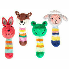Global Affairs  Crochet Cotton Animal Rattle