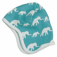 Pigeon Organics Elephant Baby Hat - Single Colour Blue