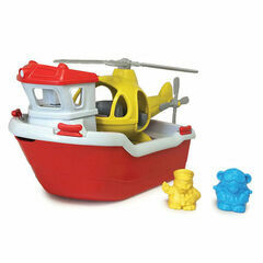 Green Toys Recycled Rescue Boat with Helicopter