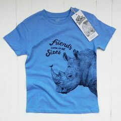 Lion of Leisure Rhino Short Sleeved T-Shirt - Blue