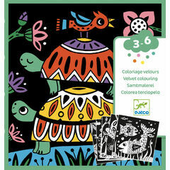 Djeco Colouring Velvet - Creepy Crawlies & Beasties