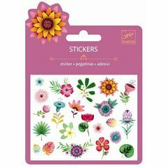 Djeco Tropical Flowers Mini Glitter Stickers