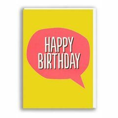 Blah Blah Blah Greeting Card - Happy Birthday