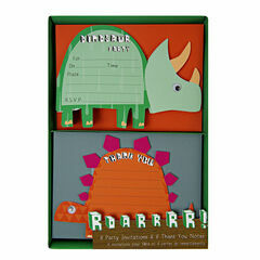 Meri Meri Dinosaur Party Invitations & Thank You Notes
