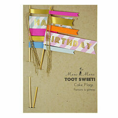 Meri Meri Toot Sweet Happy Birthday Cake Flags