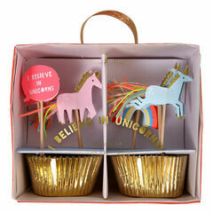 Meri Meri I Believe in Unicorns Party Cupcake Kit