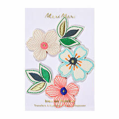 Meri Meri Flowers Iron-on Patches