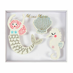 Meri Meri Mermaid Embroidered Brooches