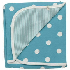 Pigeon Organic Baby Wrap/Throw - Blue Spot