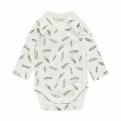 Ygon Premature Baby Tie Body Suit - Feathers