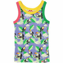 Vitoria Printed Vest Top - Periwinkle Toucans