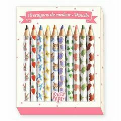 Djeco Pack of 10 mini Colouring Pencils