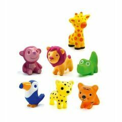 Djeco Soft Plastic Animal Figures - Troopo Savannah / Jungle